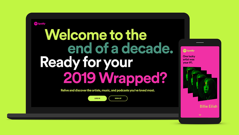 Spotify - 2019 Wrapped Large Text Example